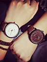 Couple\'s Wrist Watch Quartz 30 m Casual Watch PU Band Analog Vintage Fashion Brown - White Brown