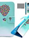 étui en cuir coco motif de Voyage Fun® ballon PU avec protecteur d'écran et un câble USB et stylet pour iPhone 6 / 6s