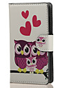 Three Owls PU Leather Wallet Full Body Case with Stand for Microsoft Lumia 532