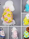 Кошка Собака Футболка Пижамы Одежда для собак Мультипликация Желтый Синий Розовый Синий/Желтый Светло-Розовый Флис Хлопок Костюм Для
