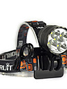 3 Headlamps Bike Lights Headlight LED 7000 lm 3 Mode Cree XM-L T6 Impact Resistant Rechargeable Waterproof Emergency Strike Bezel Tactical
