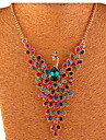 Women\'s Crystal Y Necklace - Crystal, Rhinestone Peacock Bohemian, Boho Necklace For Party, Daily