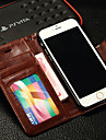 제품 아이폰6케이스 아이폰6플러스 케이스 케이스 커버 카드 홀더 지갑 스탠드 플립 풀 바디 케이스 한 색상 하드 인조 가죽 용 iPhone 6s Plus iPhone 6 Plus iPhone 6s 아이폰 6