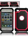 double en plastique amovible et etui en silicone pour iPod Touch 4 (couleurs assorties)