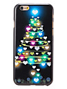 Christmas Style Heart-shaped Tree Pattern PC Hard Back Cover for iPhone 6