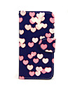 For iPhone 5 Case Card Holder / Wallet / with Stand / Flip / Pattern Case Full Body Case Heart Hard PU Leather iPhone SE/5s/5