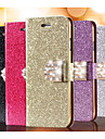 Glitter Diamond Leather Cell Phone Case Card Slot Wallet Back Cases For iPhone 7 7 Plus 6s 6 Plus SE 5s 5 4s 4