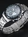 V6 Masculino Relógio Elegante Quartzo Quartzo Japonês Lega Banda Prata Prata
