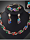 Women\'s Jewelry Set Vintage Party Link/Chain Fashion European Party Special Occasion Anniversary Birthday Gift Synthetic Gemstones Cubic
