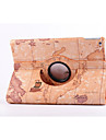 World Map 360⁰ Case Design Stand Function High Quality PU Leather Bag For iPad Mini 3/2/1(Assorted Color)