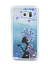 Case For Samsung Galaxy Samsung Galaxy Case Flowing Liquid Back Cover Cartoon PC for S6 edge S6