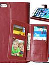 Pour Coques iPhone 6 Plus Portefeuille / Porte Carte / Avec Ouverture / Clapet Coque Coque Integrale Coque Couleur Pleine Dur Cuir PU pour