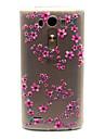 Pour Coque LG Etuis coque Transparente Coque Arrière Coque Fleur Flexible PUT pour LG LG G3 LG Spirit/LG C70 H422