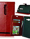 For Asus Case Card Holder / Wallet / with Stand / Flip Case Full Body Case Solid Color Hard PU Leather ASUS