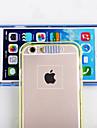 Pour Coque iPhone 6 / Coques iPhone 6 Plus Lampe LED Allumage Auto / Transparente Coque Coque Arrière Coque Couleur Pleine Flexible TPU