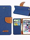 Для Кейс для iPhone 6 / Кейс для iPhone 6 Plus Бумажник для карт / Кошелек / со стендом / Флип Кейс для Чехол Кейс для Один цвет Твердый
