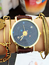 Planets Watch Vintage Leather Watch Women Watches Unisex Watch  Men's Watch Watercolor Astronomy Cool Watches Unique Watches Strap Watch