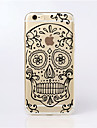 Case For iPhone 5 Apple iPhone 5 Case Ultra-thin Transparent Pattern Back Cover Skull Soft TPU for iPhone SE/5s iPhone 5