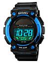 SKMEI Pánské Sportovní hodinky Náramkové hodinky Digitální Z umělé kůže Černá 50 m Voděodolné Alarm Kalendář Digitální Černá Červená Modrá / Chronograf
