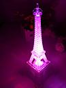 10 * 10 * 15 cm bouton-poussoir romantique monochrome colore lumiere la lumiere de la tour eiffel a mene la lampe