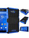 2 en 1 double couleur detachable pc + TPU hybride avec bequille pour Sony Xperia Z3 / Z4 / mini-Z3 / Z4 Mini / E4 / E4G