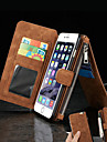For iPhone 8 iPhone 8 Plus iPhone 6 iPhone 6 Plus Case Cover Wallet Card Holder with Stand Flip Full Body Case Solid Color Hard Genuine