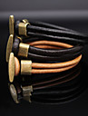 Women\'s Leather Bracelet - Vintage Casual Fashion Black Brown Light Brown Bracelet For Daily