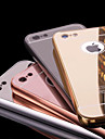 Для Кейс для iPhone 6 / Кейс для iPhone 6 Plus Покрытие / Зеркальная поверхность Кейс для Задняя крышка Кейс для Один цвет Твердый Металл