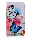 Case For Samsung Galaxy Samsung Galaxy Case Wallet / Card Holder / with Stand Full Body Cases Butterfly PU Leather for J5 / J3 / J2