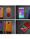 Case For Samsung Galaxy Samsung Galaxy Note Card Holder Back Cover Solid Color PU Leather for Note 5 Note 4