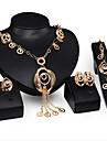 Κοσμήματα Σετ Cubic Zirconia Μοντέρνο, κυρίες, Βίντατζ, Πάρτι, Κούμπωμα / Αλυσίδα, Ευρωπαϊκό Περιλαμβάνω Χρυσό Για Πάρτι Ειδική Περίσταση Επέτειος Γενέθλια Δώρο / Cercei / Κολιέ