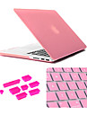 "Case for MacBook Pro 13.3"" Solid Color Plastic Material 3 in 1 Matte Case with Keyboard Cover and Silicone Dust Plug"