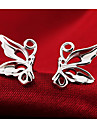 Women\'s Stud Earrings Fashion Cute Style Sterling Silver Silver Butterfly Animal Jewelry Wedding Party Daily