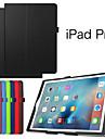 Coque Pour iPad Pro Couleur Pleine Mise en veille automatique Folio Case Couleur unie faux cuir pour