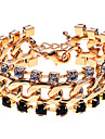 European Style  Crystals Claw Chain Statement Bracelet