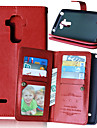 Case For LG LG Case Card Holder Wallet with Stand Flip Full Body Cases Solid Color Hard PU Leather for