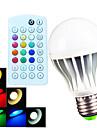 700 lm E26/E27 B22 Lampada Redonda LED A60(A19) 15 leds SMD 5730 Regulavel Decorativa Controle Remoto Branco Quente Branco Frio Branco