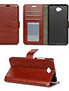 For Nokia Case Wallet / Card Holder / with Stand Case Full Body Case Solid Color Hard PU Leather Nokia Nokia Lumia 850 / Other