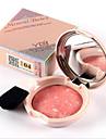 6 Blush Secos PoGloss com Purpurina Brilhante / Gloss Colorido / Humidade / Controlo de Oleo / Longa Duracao / Corretivo / Peles com