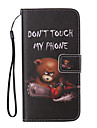 Chainsaw Bear Painted PU Phone Case for Huawei P8 Lite/P8