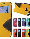 Pour Samsung Galaxy Note7 Porte Carte Avec Support Clapet Coque Coque Integrale Coque Couleur Pleine Dur Cuir PU pour SamsungNote 7 Note