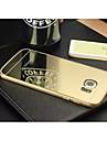 Capinha Para Samsung Galaxy Samsung Galaxy Capinhas Galvanizado Espelho Capa traseira Côr Sólida PC para S6