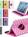 360 rotation impression de luxe a pois etui en cuir PU pour Apple iPad Mini 4 tablettes cas Smart Cover flip avec support