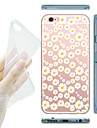 Capinha Para Apple iPhone X iPhone 8 Capinha iPhone 5 Transparente Estampada Capa traseira Flor Macia TPU para iPhone X iPhone 8 Plus