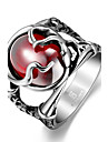 Men\'s Stainless Steel / Zircon / Cubic Zirconia Others / Skull Statement Ring - Unique Design / Fashion Red Ring For Christmas Gifts