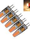 5 stuks 3000-3200/6000-6500 lm G4 LED-kaarslampen T 1 leds COB Decoratief Warm wit Koel wit AC 12V DC 12V