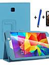 케이스 제품 Samsung Galaxy 스탠드 자동 슬립 / 웨이크 기능 플립 전체 바디 케이스 한 색상 하드 PU 가죽 용 Tab 4 7.0