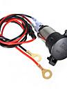 12v de la motocicleta del coche 120w toma de corriente mas ligera cable de 60cm
