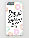Personality in English Pattern PC Hard Back Case Cover for iPhone 6s 6 Plus