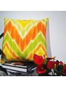 Colourful Corrugated Printed Throw Home Decorative Cotton Linen Pillow Case 45 X 45cm